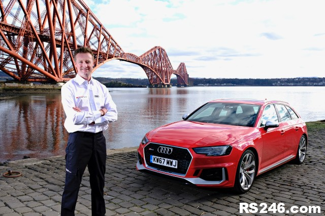 Gordon Shedden gets to grips with new Audi RS 4 Avant